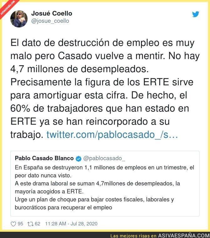 291578 - Las mentiras de Pablo Casado desmentidas en pocos minutos
