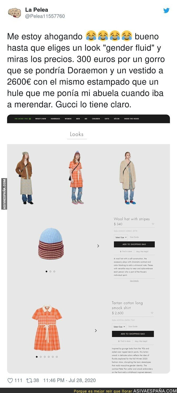 295854 - Los polémicos precios de Gucci en este gorro y vestido que están indignando a mucha gente