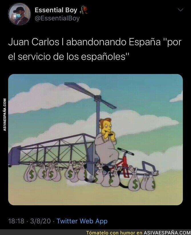 302005 - Juan Carlos I anuncia al Rey Felipe VI que se va de España