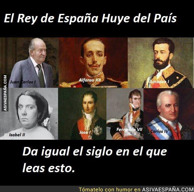 303072 - La historia se repite. Un Borbón se va por ladrón (Pd: Amadeo y Jose no eran borbones)