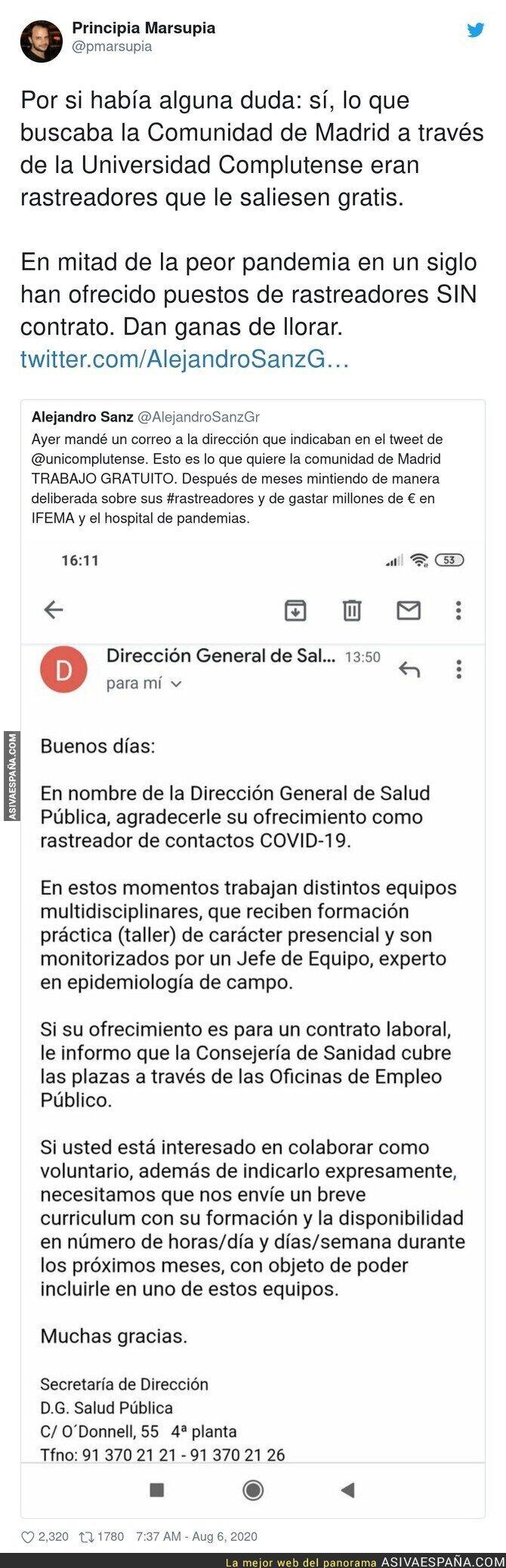 307722 - La poca vergüenza de la Comunidad de Madrid buscando rastreadores