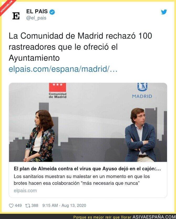 318454 - Isabel Díaz Ayuso y su nefasta gestión con los rastreadores