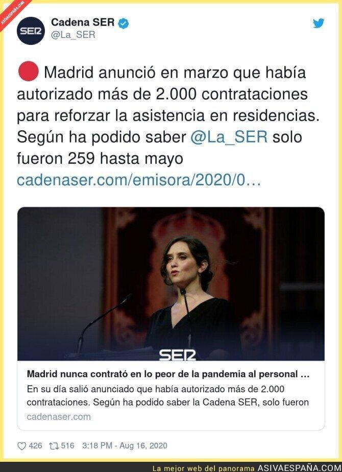 324116 - Isabel Díaz Ayuso no cumple nada de lo que anuncia