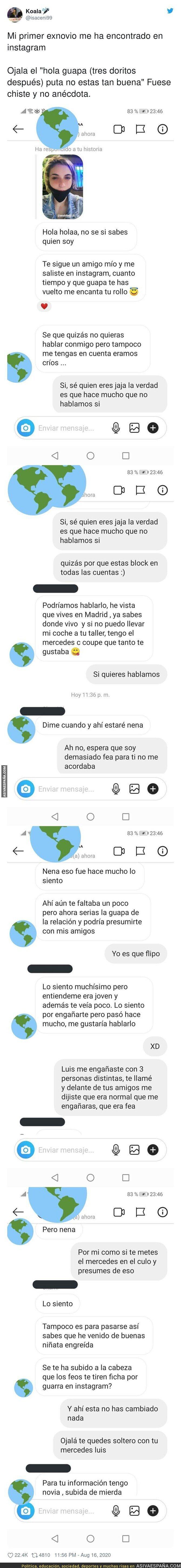 326093 - La conversación de un ex-novio que viene en búsqueda de su ex por Instagram con una conversación que no sorprenderá en su final