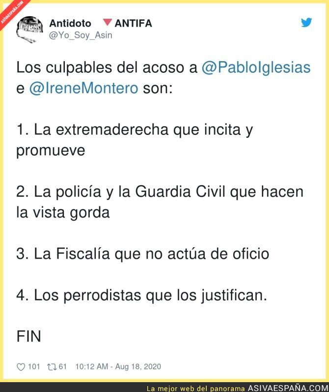 327446 - Todo vale contra Pablo Iglesias e Irene montero