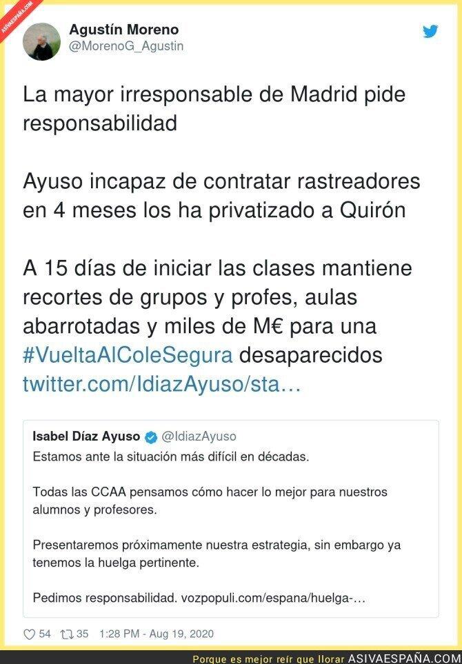329573 - Terrible lo de Isabel Díaz Ayuso culpando a los profesores