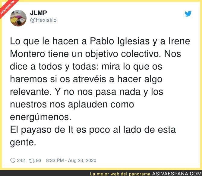 337262 - Acoso sin descanso hacia la familia de Pablo Iglesias