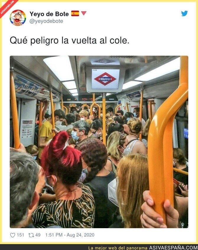 338639 - Tremenda situación cada mañana en el Metro gestionado por Isabel Díaz Ayuso