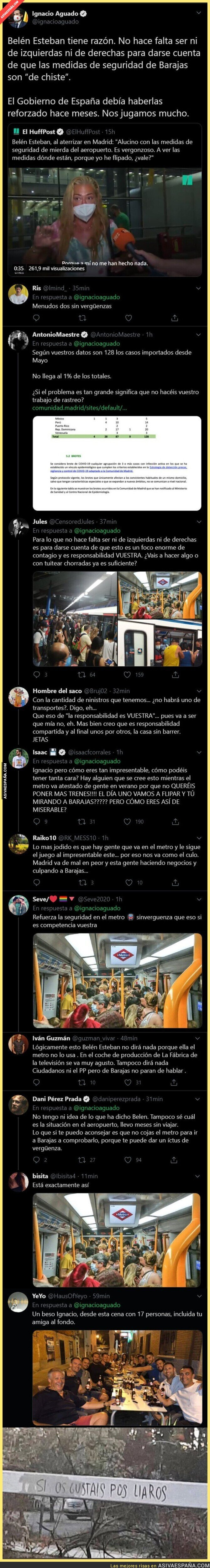 339092 - Ignacio Aguado carga contra el Gobierno aprovechando las quejas de Belén Esteban que no hay medidas de seguridad en Barajas y se lía pardísima