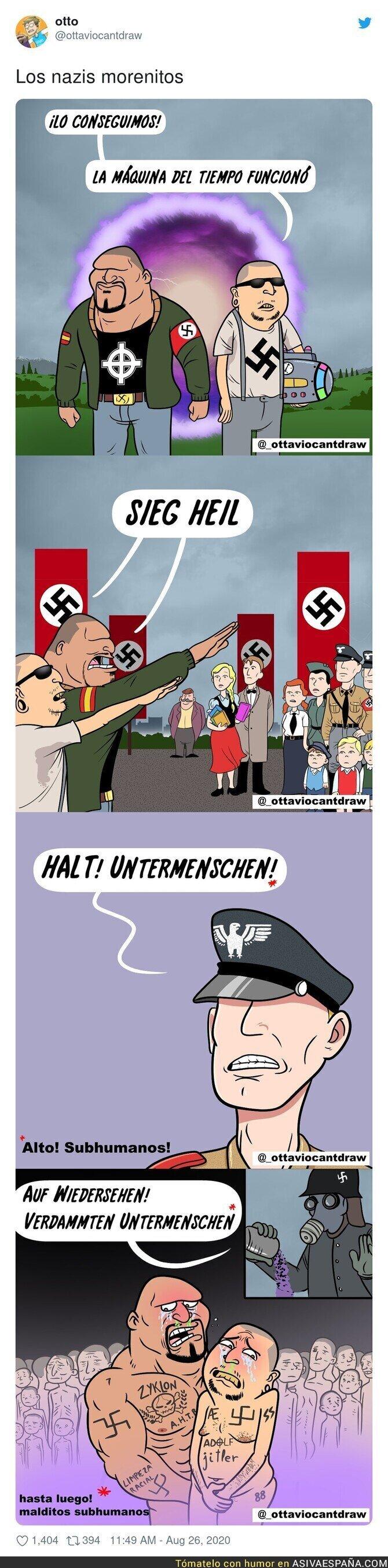 341595 - El nazi morenito, es españolito de Europa más bajito y también el más tontito