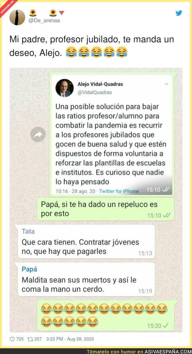 344377 - Maravillosa respuesta de un profesor a Alejo Vidal-Quadras tras decir esto de los profesores