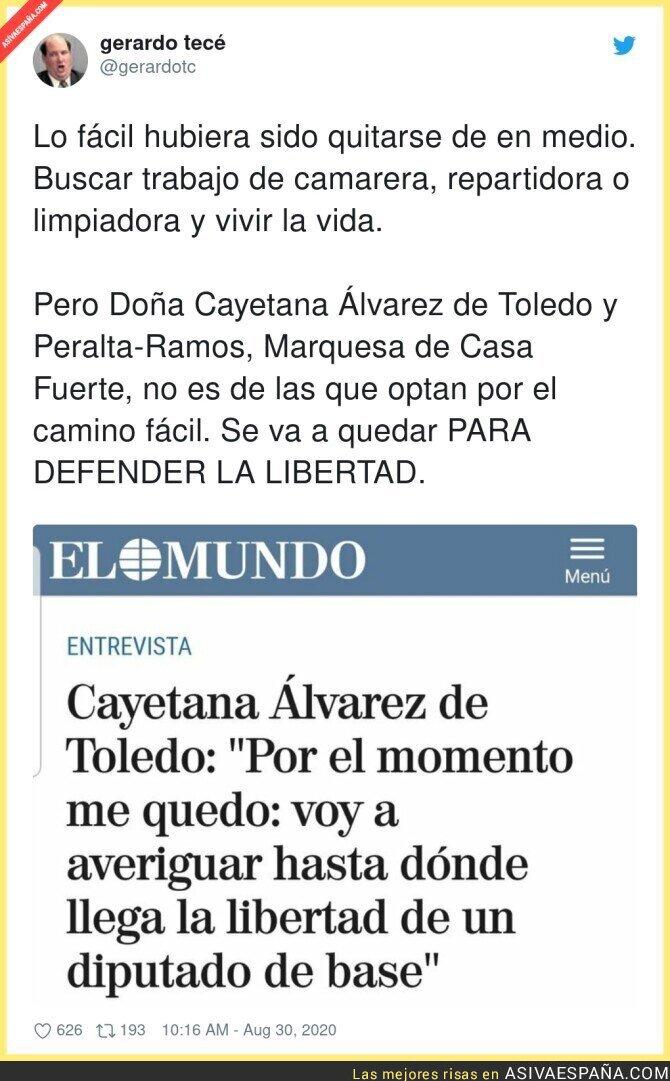 346489 - Cayetana Álvarez de Toledo sigue esperando su oferta por VOX