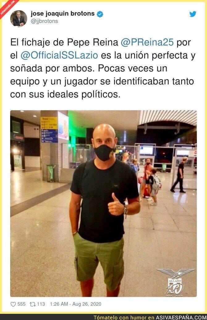 347973 - Pepe Reina será acogido como en casa por los nazis de la Lazio