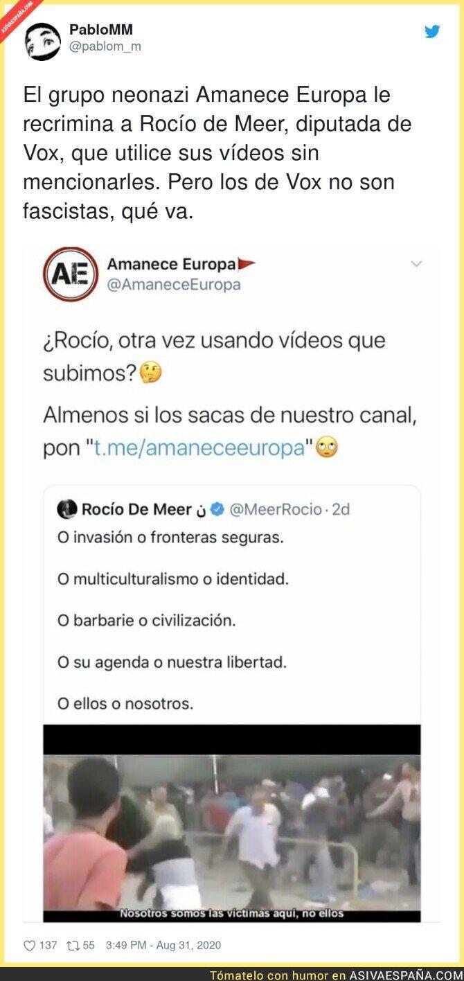 348054 - Grupo neonazi reclama los derechos de autor a Rocío de Meer por difundir este vídeo suyo
