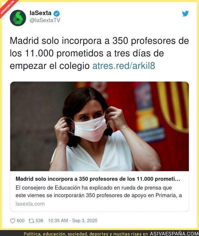 352557 - Antes de empezar el colegio Madrid ya está faltando a sus obligaciones
