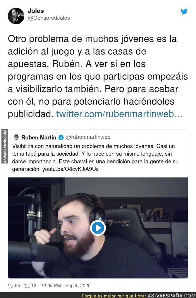 354378 - Un buen revés a Rubén Martin que trabaja en la COPE y te torturan diariamente con las casas de apuestas