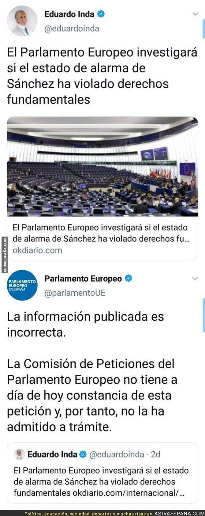357150 - El Parlamento Europeo desmiente a Eduardo Inda