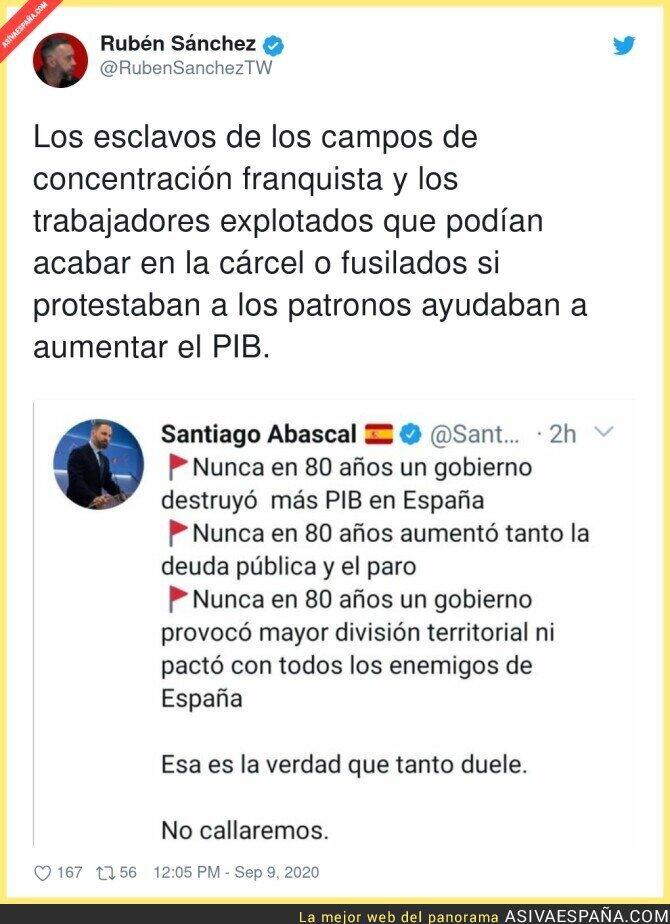 361212 - Santiago Abascal echa de menos ya sin disimular la época franquista