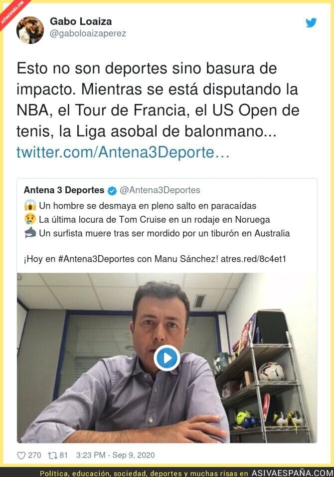 361771 - 'Antena 3 Deportes' la lía pardísima con sus titulares en sus informativos