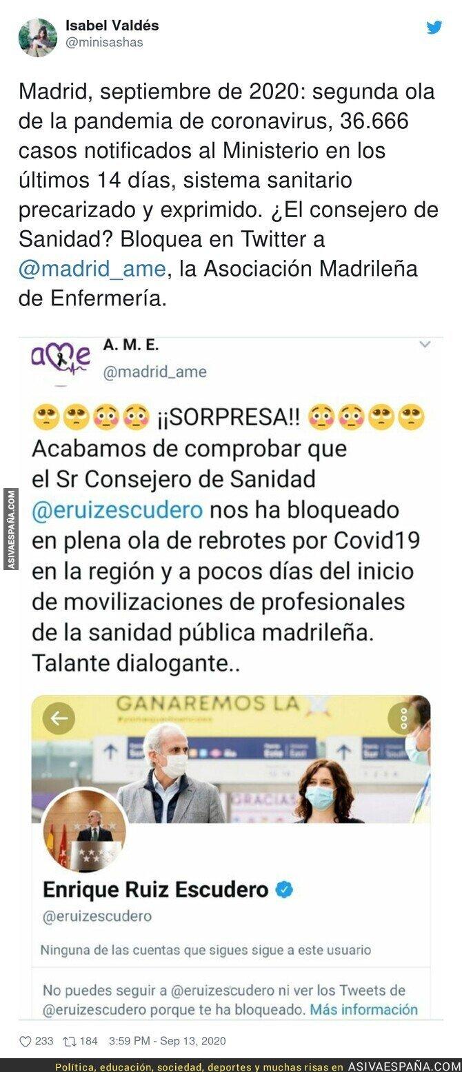 366803 - Una auténtica vergüenza lo del Consejero de Sanidad de la Comunidad de Madrid