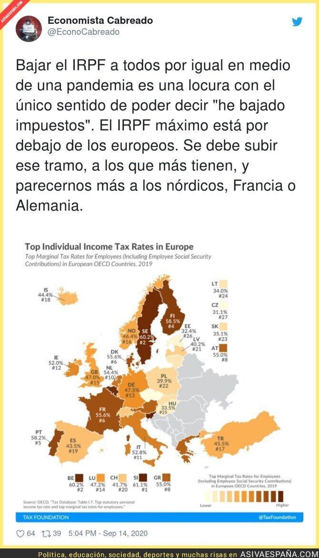367948 - Isabel Díaz Ayuso baja el IRPF por igual a los que más tienen como a los que menos