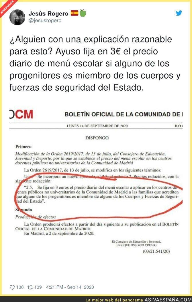 368320 - Trato especial para según quien en los colegios públicos de Madrid