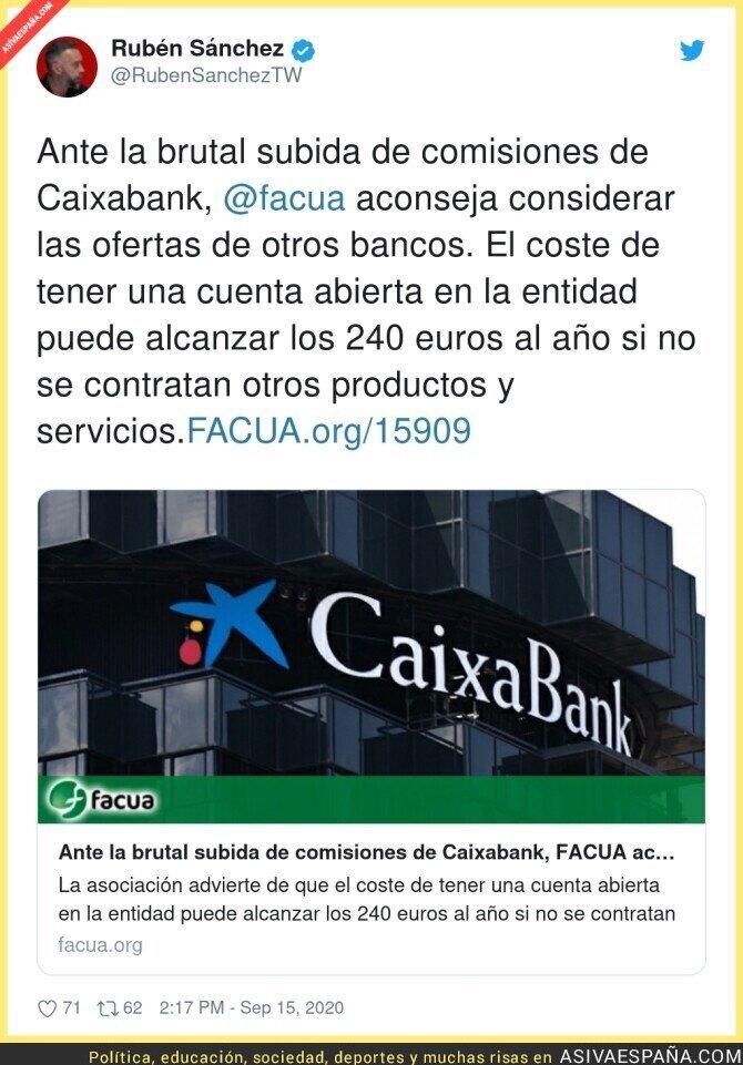 368831 - Ojito a la que va a liar Caixabank con sus comisiones