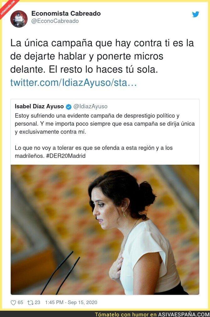 368870 - Isabel Díaz Ayuso se siente atacada