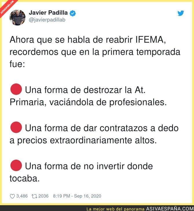 370845 - Además de dar millones de euros a Florentino Fernández cuando IFEMA estaba cerrado