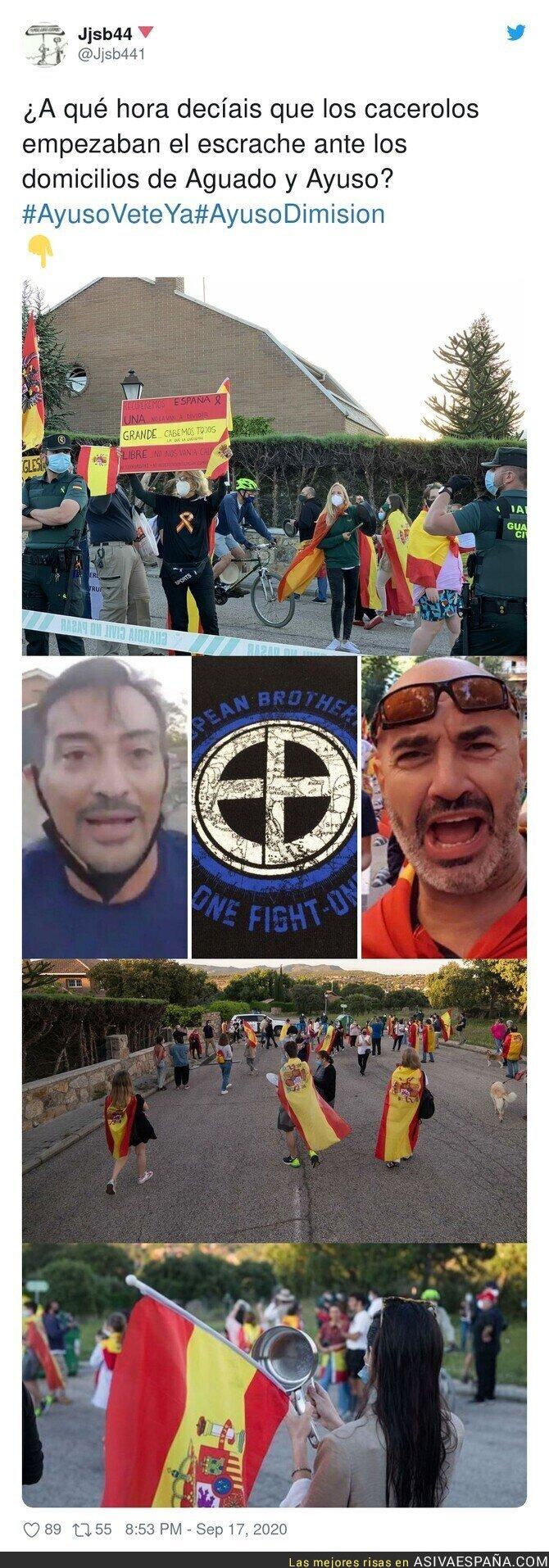 371956 - Sigue el acoso frente a la casa de Pablo Iglesias