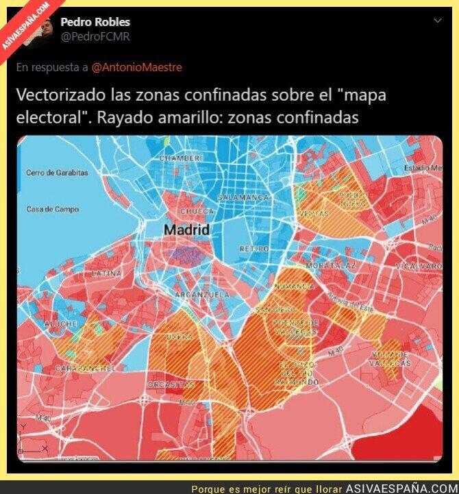 374567 - Isabel Díaz Ayuso ha castigado con confinamiento a todas las zonas que no la han votado