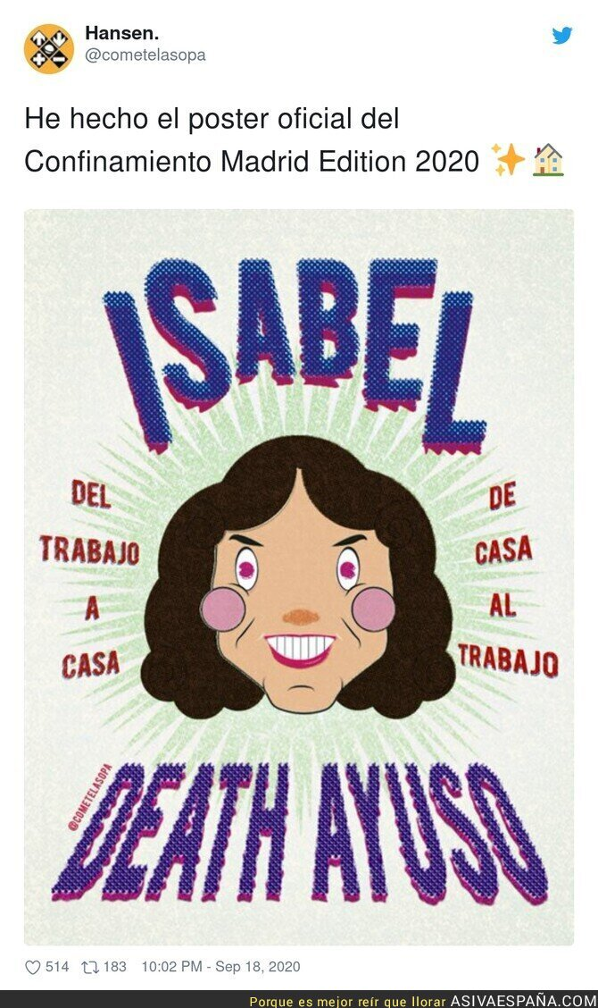 374729 - Maravilla absoluta contra la irresponsable de Isabel