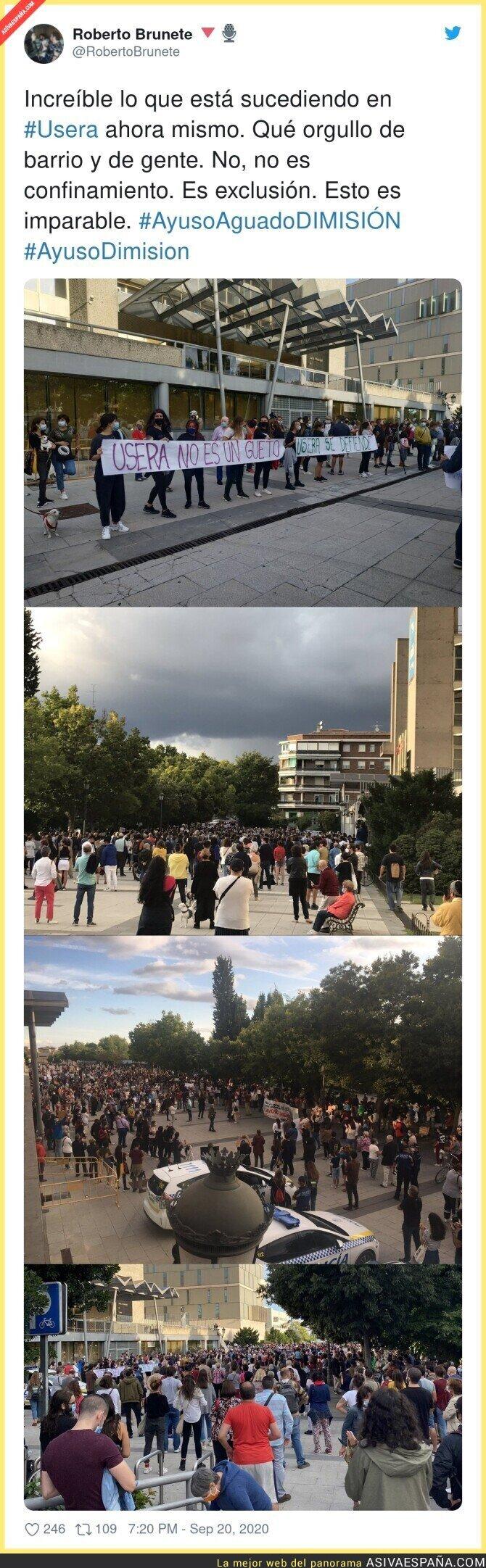 376649 - Así protesta Usera contra el confinamiento selectivo de la Comunidad de Madrid