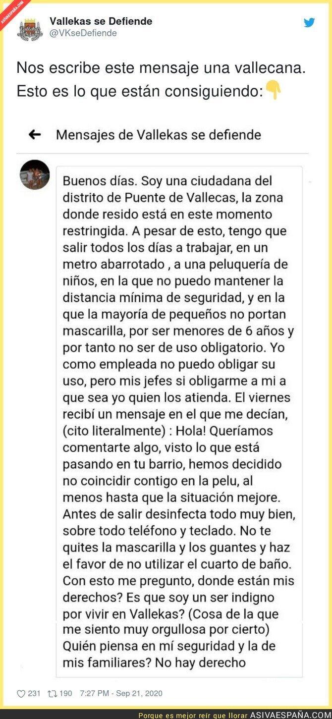 378456 - La indignación de la gente de Vallecas con las medidas que ha puesto el Gobierno de Díaz Ayuso