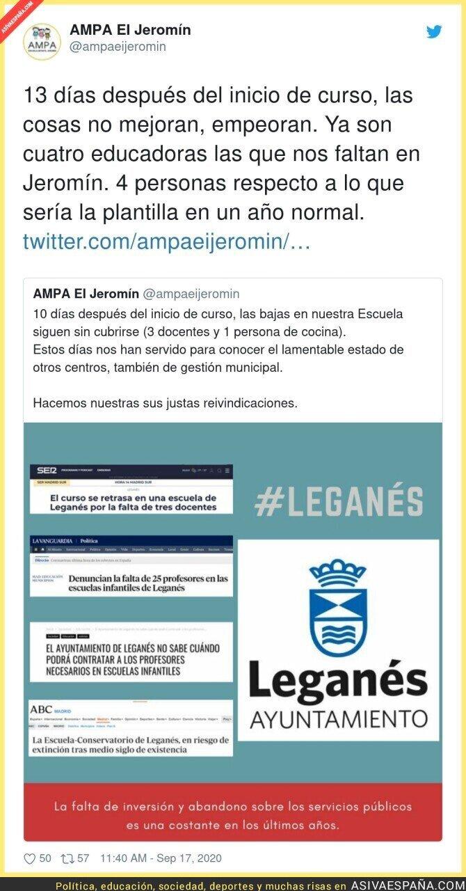 378967 - Drama en este colegio de Leganés con el contagio a docentes