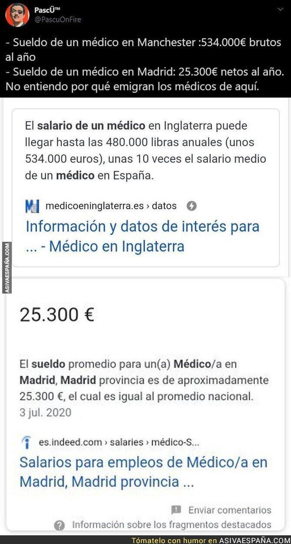 380015 - Inexplicable lo de los médicos en España