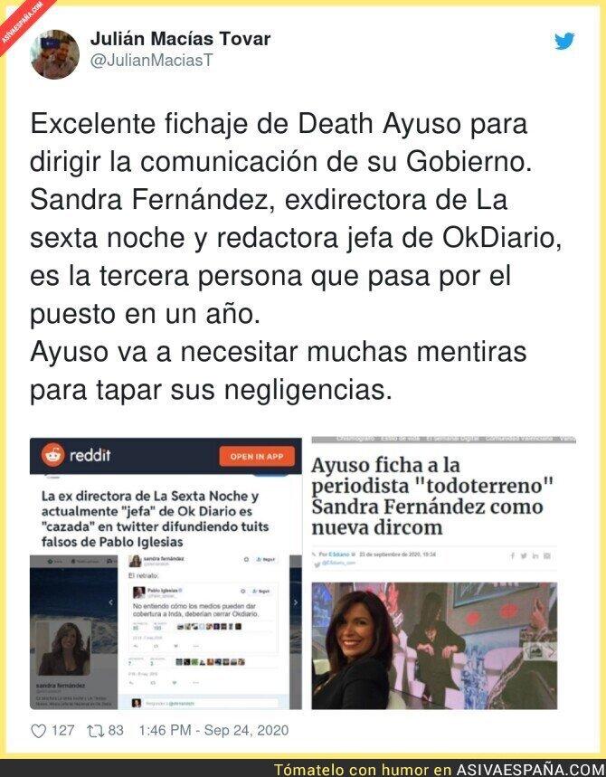 382281 - Menudo fichaje se lleva Isabel Díaz Ayuso