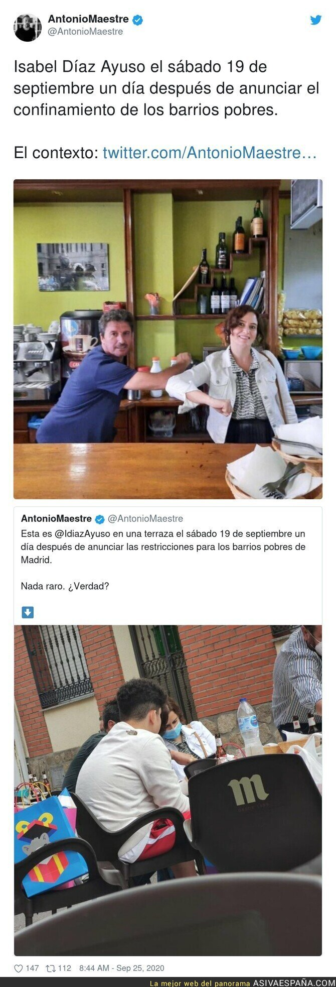 382866 - Isabel Díaz Ayuso da el peor ejemplo en plena pandemia