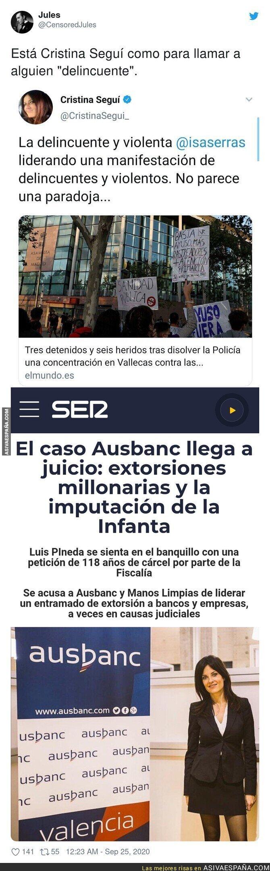 383114 - El motivo por el que Cristina Seguí no puede llamar delincuente a nadie