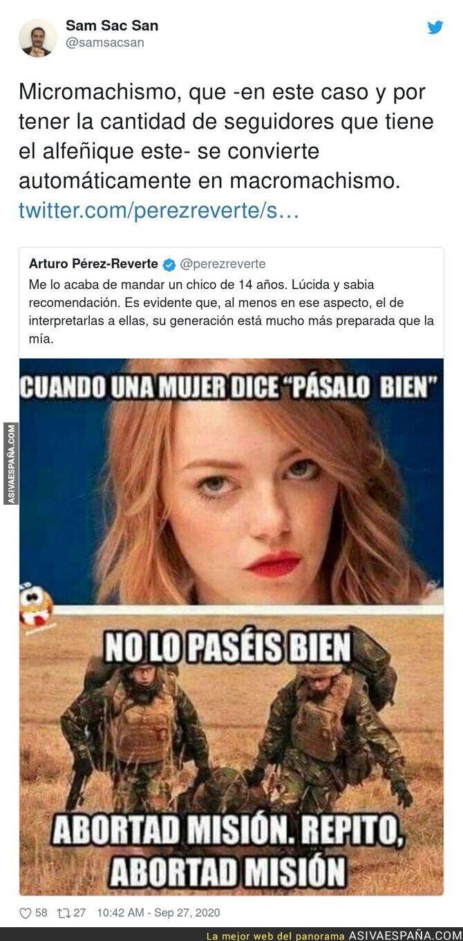 388000 - El machismo repugnante de Arturo Pérez-Reverte