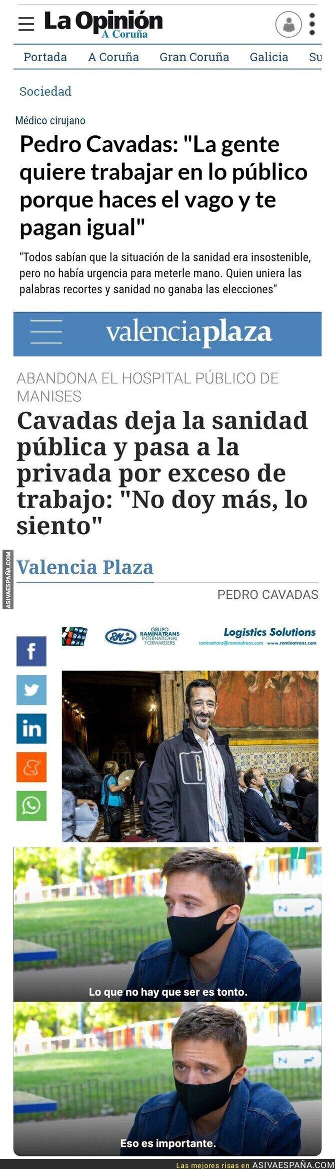 389301 - Pedro Cavadas está siendo muy criticado por estas declaraciones sobre la sanidad pública y privada