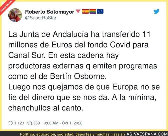 393890 - La irresponsabilidad de los trifachitos de la Junta de Andalucía en plena pandemia