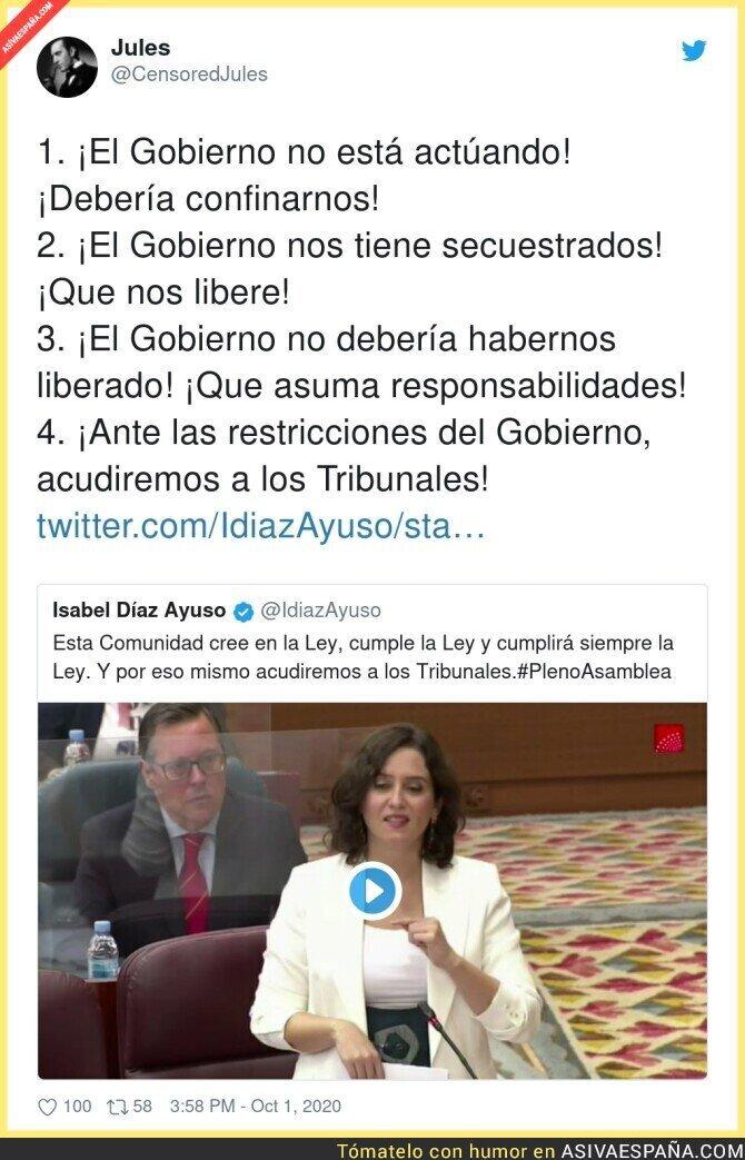 394151 - Isabel Díaz Ayuso no está contenta con nada
