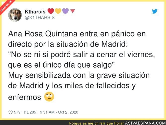 395271 - Ana Rosa Quintana se solidariza con Madrid
