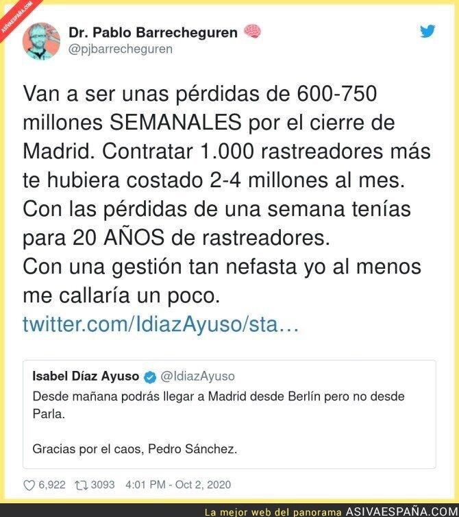 396561 - Isabel Díaz Ayuso es la responsable de todas las pérdidas de Madrid