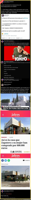 398030 - Así difunde bulos la ultraderecha sobre la casa del expresidente José Luis Rodríguez Zapatero