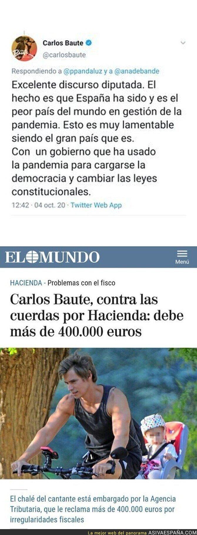 399287 - Todo cuadra con la ideología política de Carlos Baute