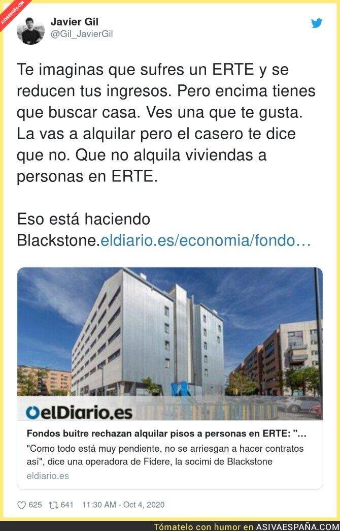 400080 - Esto está haciendo Blackstone con la gente que está en ERTE y busca vivienda para alquilar