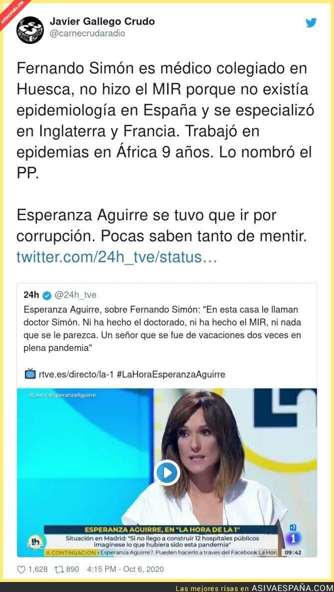 400992 - Esperanza Aguirre es la menos indicada para criticar a nadie