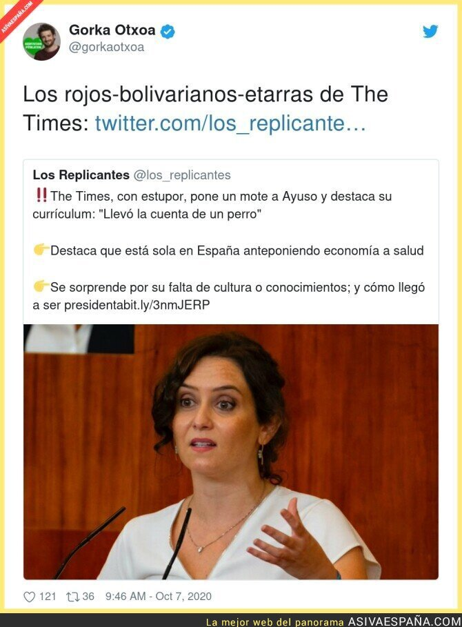401926 - The Times carga contra Isabel Díaz Ayuso